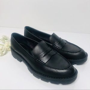 Born Black Leather Penny Loafer Shoes 8.5M